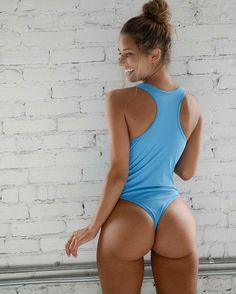 Blue teddy thong