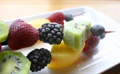 From our blog: Frozen Fruit Kebabs for the most effortlessly cool cookout dessert.
