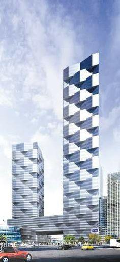 Zovie Plaza, Tianjin, China por Lab Architecture Studio. 54 pisos, 220 m de altura.