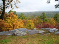 Fall foliage at Robbers' Cave State Park, Okla. Oct '09