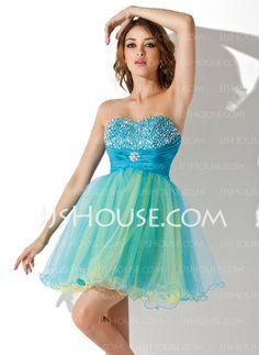 Empire Sweetheart Short Mini Taffeta Tulle Homecoming Dress With Ruffle  Beading Sequins 2297656bf