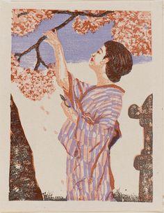 Cherry Blossom Season (Hanadoki), from the portfolio Women's Customs in Japan (Nihon jozoku sen) | Museum of Fine Arts, Boston