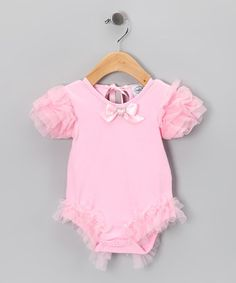 Take a look at this Pink Jewel Ruffle Bodysuit - Infant by Mud Pie Collection on #zulily today!