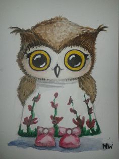 aquarel / watercolored owl