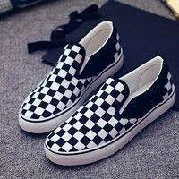f7564bc1ed2e Buy Checkerboard Men And Women Canvas Shoes Fashion Lazy Shoes Casual Shoes  Plus Size35-44