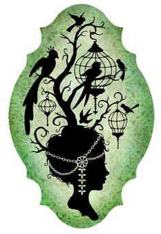 Bird Cage Woman #2