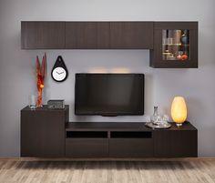 Ideas Storage Cabinet Design Tvs For 2019 Open Plan Kitchen Living Room, Ikea Living Room, Small Living Rooms, Ikea Tv Wall Unit, Bedroom Wall Units, Tv Unit Decor, Tv Unit Furniture, Wall Unit Designs, Tv Cabinet Design