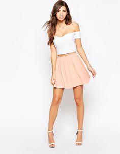 ASOS - Jupe patineuse en jersey chez ASOS shoping tenuedujour lookdujour mode femme ete achat fashion mignon jolie tendance ootd lux