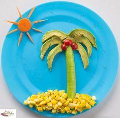 Fun ways to present salad Desert Island