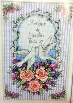 9.95 Dimensions Gold Collection Cross Stitch Loving Dove Wedding Record Petite Howard #Dimensions #GoldCollection #CrossStitch #WeddingDoves
