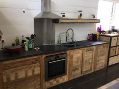 Kitchen Cabinets From Pallets wood pallet powered kitchen | wood pallets, pallets and woods