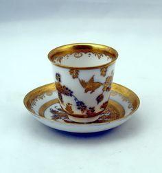 FRÜHE MEISSEN TASSE KÖPPCHEN GOLDMALEREI CUP WITH SAUCER CHINOISERIE  UM 1730