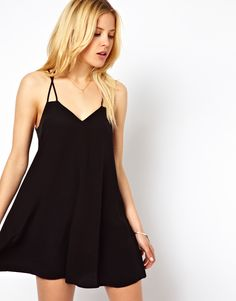 spaghetti strap swing dress