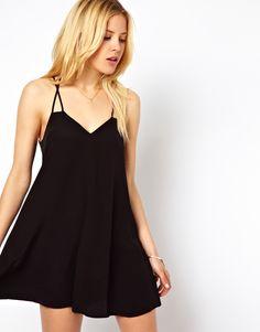 spaghetti strap swing dress