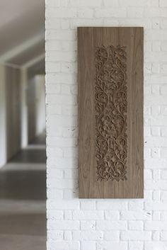 Reclaimed Teak wood panel. From Trunk