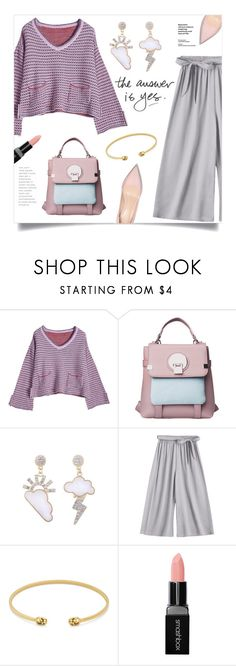 """""""Casual Friday"""" by mahafromkailash ❤ liked on Polyvore featuring Gucci, Smashbox, BackToSchool, chic, Trendy, widepants and fall2017"""