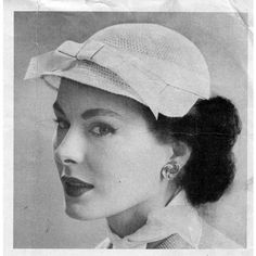 This vintage crochet pattern will assist you in crocheting a delightful calot hat with small visor.  For an extra feminine touch, add the ribbon and bow.