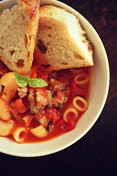 Love This Crazy Life // Easy, one pot recipe for Italian sausage soup. Perfect for fall!