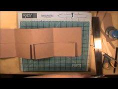 File Folder Mini Scrapbook Album Tutorial Style 2 - YouTube