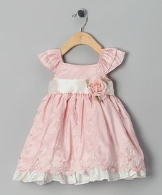 Take a look at this Ella & Dax Pink Angel-Sleeve Dress - Infant, Toddler & Girls by Rim Zim Kids, Barrel and Ella & Dax on #zulily today!