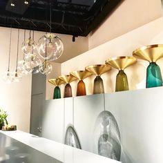 Sebastian Herkner, The Maison et Objet 2019 Designer Of the Year Best Interior, Interior Design, Sebastian Herkner, Hand Blown Glass, Track Lighting, Design Inspiration, Pendant Lamps, Brass, Ceiling Lights