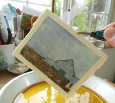 Beautiful photo transfer process tutorial. sealed with beeswax.