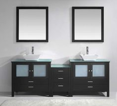 "Brentford Series 89"" Double Bathroom Vanity Set with Mirror"