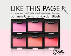 Be in with a chance WIN our new Creme to Powder Blush
