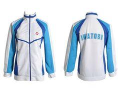 Anime envío! Iwatobi Swim Club Haruka Nanase Cosplay chaqueta Unisex con capucha deporte escuela secundaria desgaste para hombre y mujeres(China (Mainland))