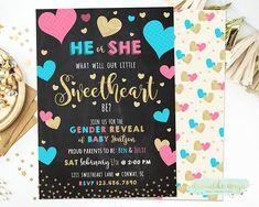 34 Gender Reveal Invites Ideas Gender Reveal Gender Reveal Invitations Gender