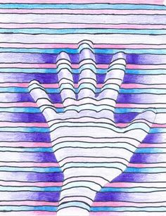Mrs. Tabitha Seaton - OpArt Hands Drawing Projects, Art Projects, Project Ideas, Craft Ideas, Op Art Lessons, Elementary Art Lesson Plans, 6th Grade Art, Classroom Crafts, Middle School Art