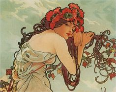Alphonse Mucha-art deco wedding inspiration