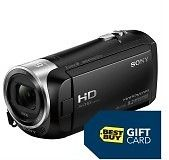 Sony - HD Flash Memory Camcorder - Black + $50 gift card