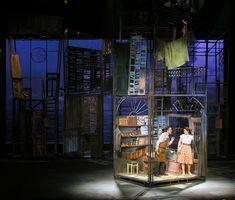 Scenic design by Roni Toren. Design Set, Prop Design, Theatre Design, Stage Design, Little Shop Of Horrors, Stage Set, Scenic Design, Installation Art, Staging