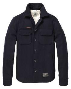 Sailor wool shirt jacket - Inbetweens - Scotch & Soda Online Shop