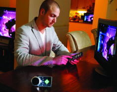 This project aimed at finding new and better control and interaction possibilities for home entertainment systems. Through a wide range of research and explorations a personal remote control has been developed for controlling and transferring media throughout the complete house. Wireless technology enables the remote control to know what devices are nearby and through this it can adapt its control and interaction possibilities.
