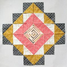 My upcoming free pattern for the upcoming Imprint  collection has this above block as the focal point of the quilt. I named it Rooted bl...