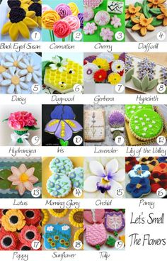 How to make different types of flower cookies. Tutorials by some of the best cookie bloggers on the net!