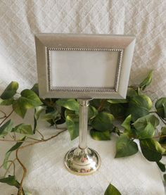 UNIQUE silver PEDESTAL frame. Silver frame. by PegsSecondChance, $12.50
