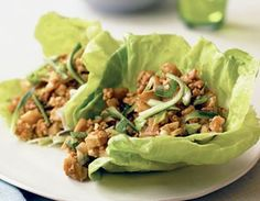Biggest Loser Chicken Lettuce Wraps. Looks good but skip the Splenda. - Click image to find more popular food & drink Pinterest pins