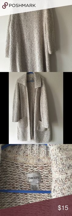 Sweater Acrylic/wool long sweater. Warm. Barely used chicos Sweaters