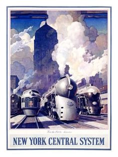 New York, Central Railroad Giclée-Druck: