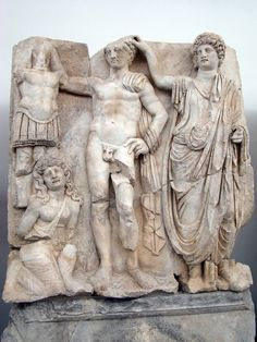 Sebasteion, the emperor crowned by the Roman People.    Aphrodisias Museum.
