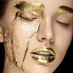 Marvelous Beauty and Makeup Photography by Anastasia Apraksina Gold Makeup, Makeup Art, Beauty Makeup, Eye Makeup, Beauty Tips For Teens, Beauty Hacks Video, Makeup Photography, Portrait Photography, Frida Gold