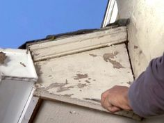 Tip 10: Paint Doesn't Stick to Rotten Siding  If paint is peeling and you've failed to maintain it over the years, check and see whether there's rot in the wood. If there is, use a wood petrifier; scrape away the bad wood and pour in the petrifier, it will make the wood extremely hard. Then fill the rotted gaps with proxy adhesive or resin.
