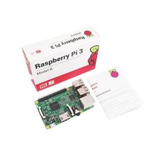 The lastest model of Raspberry Pi that has 64-bit processor, internal WiFi and Bluetooth connection.. . Raspberry Pi 3 released at Raspberry Pi's fourth birtday. Pi 3 is the most powerful model of them all. BCM2837 SoC (system-on-chip) which produced by Broadcom is on the board, Pi has 1.2 GHz 64-bit 4-core ARM Cortex-A53 processor.with Power supply and Shell box
