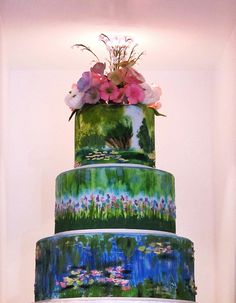 Claude Monet water lilies cake.