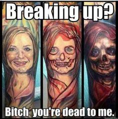 Awesome breakup tattoo