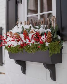 Content in a Cottage Outdoor Christmas Decorations, Christmas Wreaths, Holiday Decor, Outdoor Decor, Greenery, Cottage, Joy, Content, Pretty
