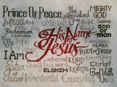 His name is Jesus by Joyful Expressions Prince Of Peace, Joyful, Cross Stitching, Christ, Sewing, Dressmaking, Couture, Fabric Sewing, Stitching
